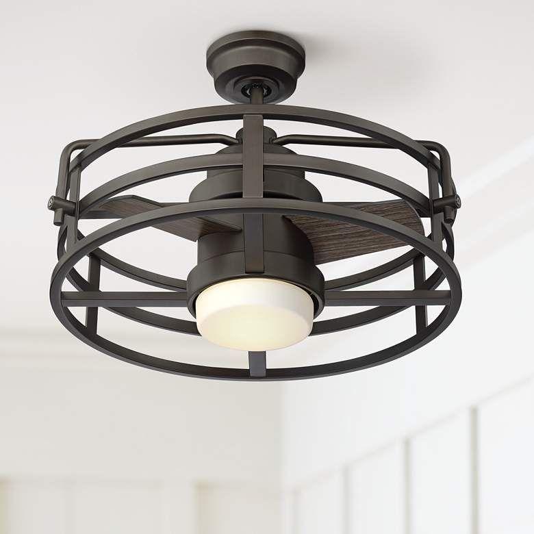 20 Voscana Bronze Outdoor Led Ceiling Fan 65c54 Lamps Plus