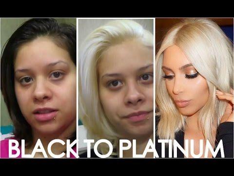 How To Get Kim Kardashians Blonde Hair Easy Steps From Black To Platinum Blonde Hair Blonde Hair Dyed Black Platinum Blonde Hair Dyed Blonde Hair