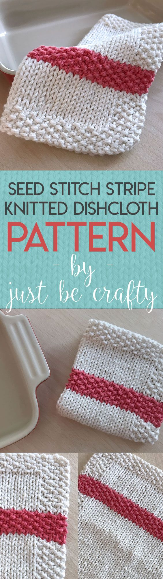 Seed Stitch Stripe Dishcloth Pattern | Seed stitch, Knitting ...