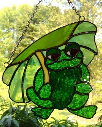 "No Wet Frog Smell Here  ""Ribbet"" by BRGlassworks for $35.00"