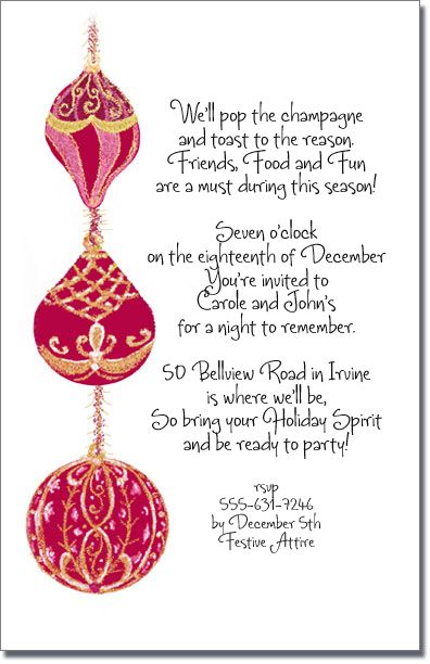 christmas dinner invitation wording - Google Search Christmas - dinner invitation sample