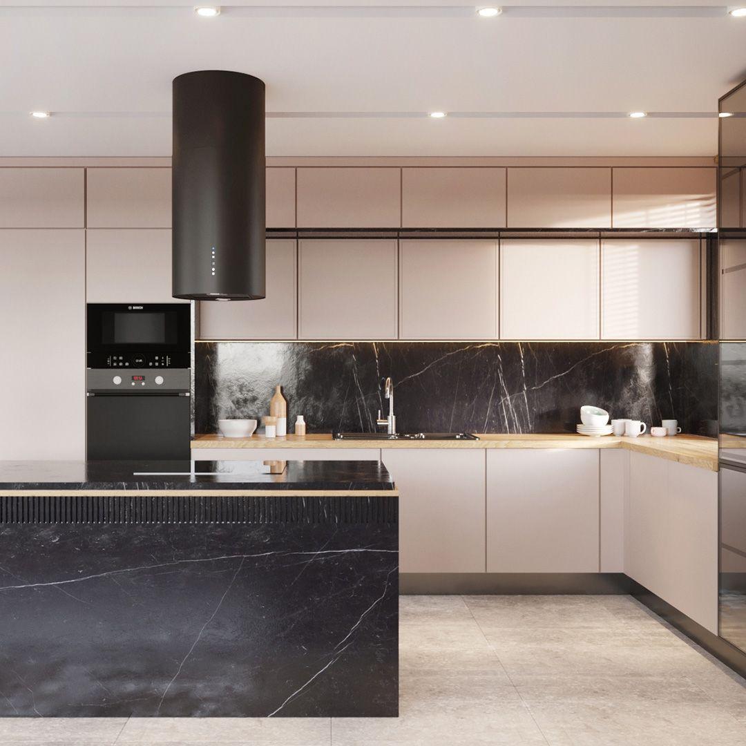 Okap Wyspowy Cylindro Black Matt Nortberg Kitchen Kitchen Cabinets Design