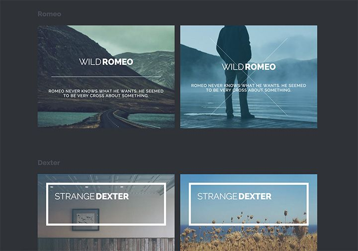 Some new creative and subtle hover effects using modern CSS techniques including 3D translate and pseudo elements. A collection by Codrops.