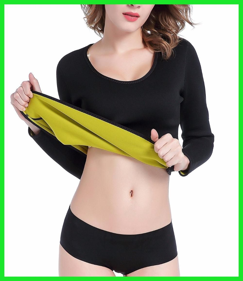 ValentinA Womens Hot Body Shapers Long Shirt Slimming Neoprene Sweat Sauna  Shirts for Weight Loss S - 3XL f367fe9495