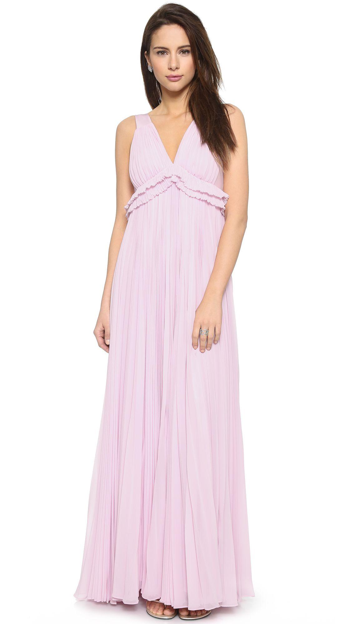 Rebecca Taylor Chiffon Pleat Gown