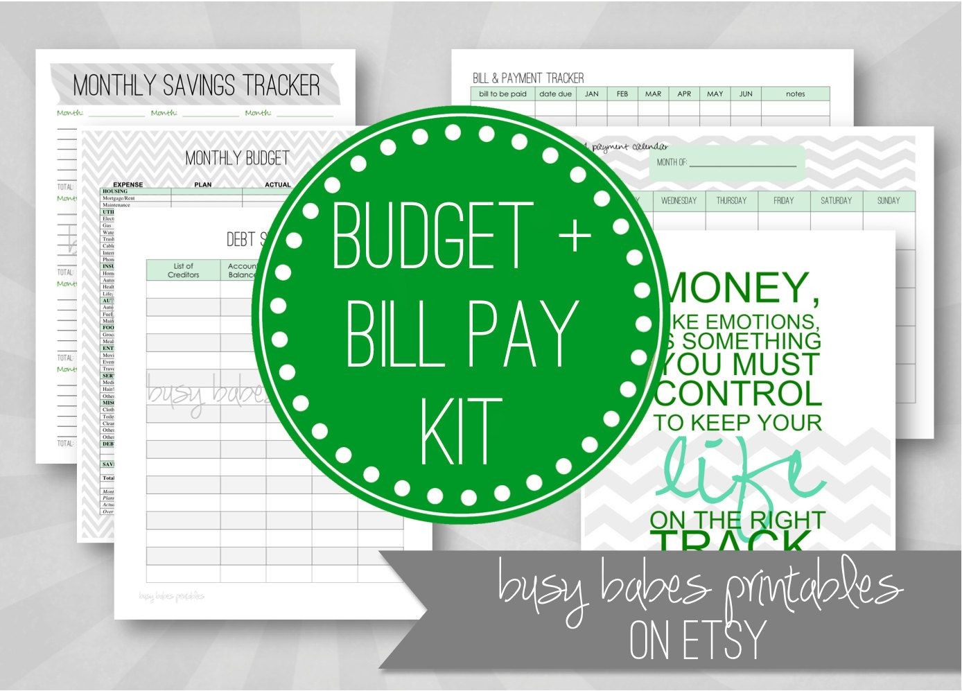 Editable Budget And Bill Pay Kit