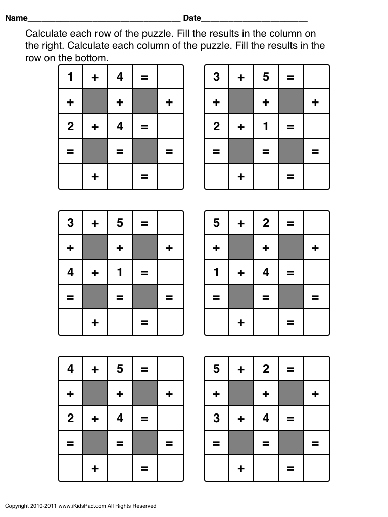 Free Printable Math Puzzles Fun Math Worksheets Maths Puzzles Free Math Worksheets