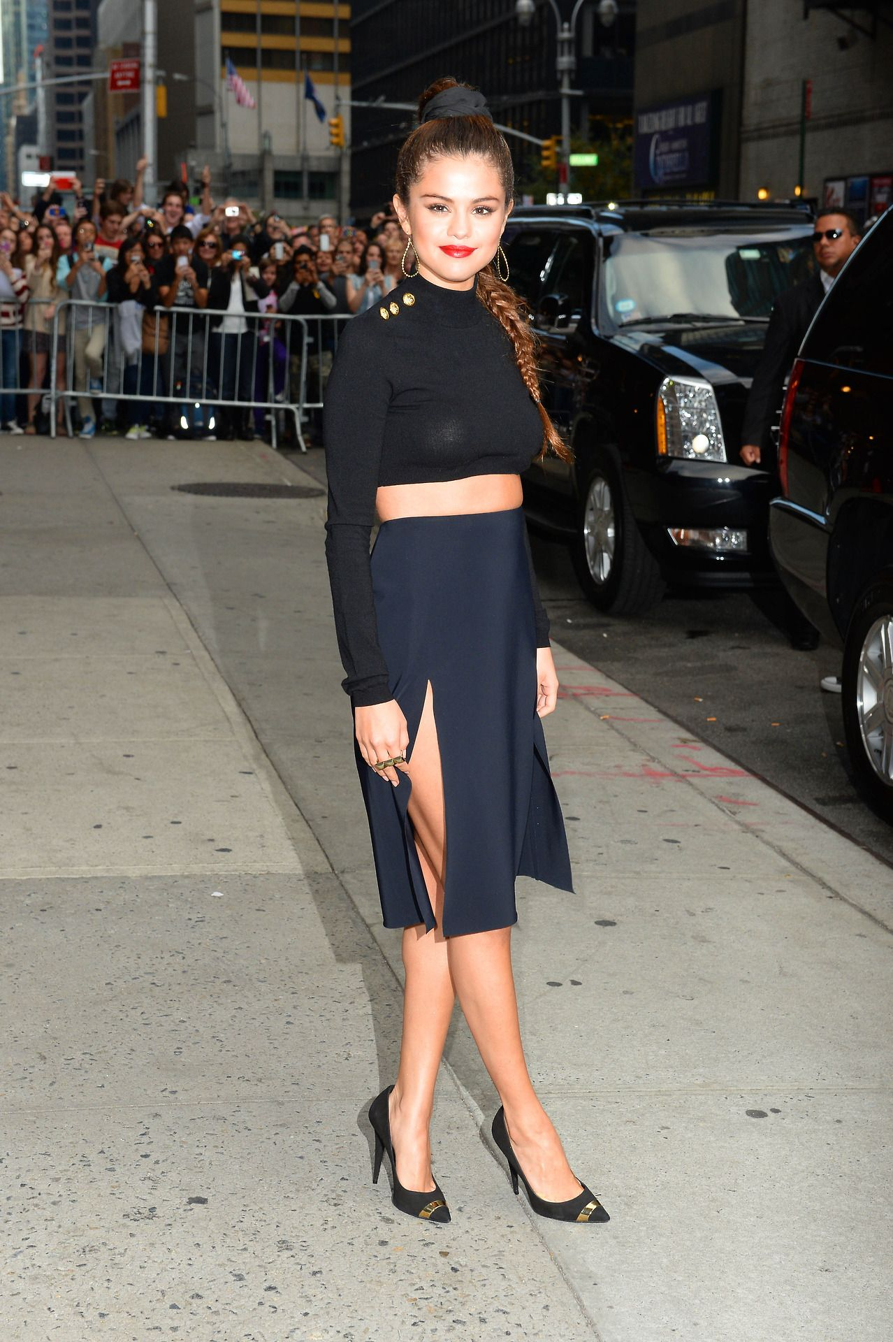 Selena Gomez stops by the 'Late Show with David Letterman' in New York City on October 17, 2013. 2