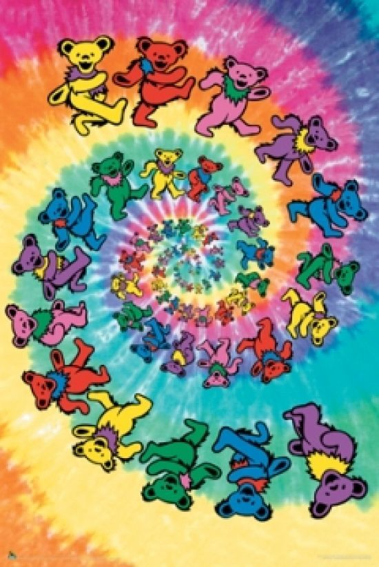 The Grateful Dead Spiral Bear Poster Poster Print