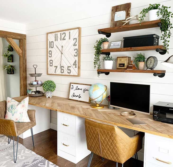 21 farmhouse home office ideas to boost your productivity