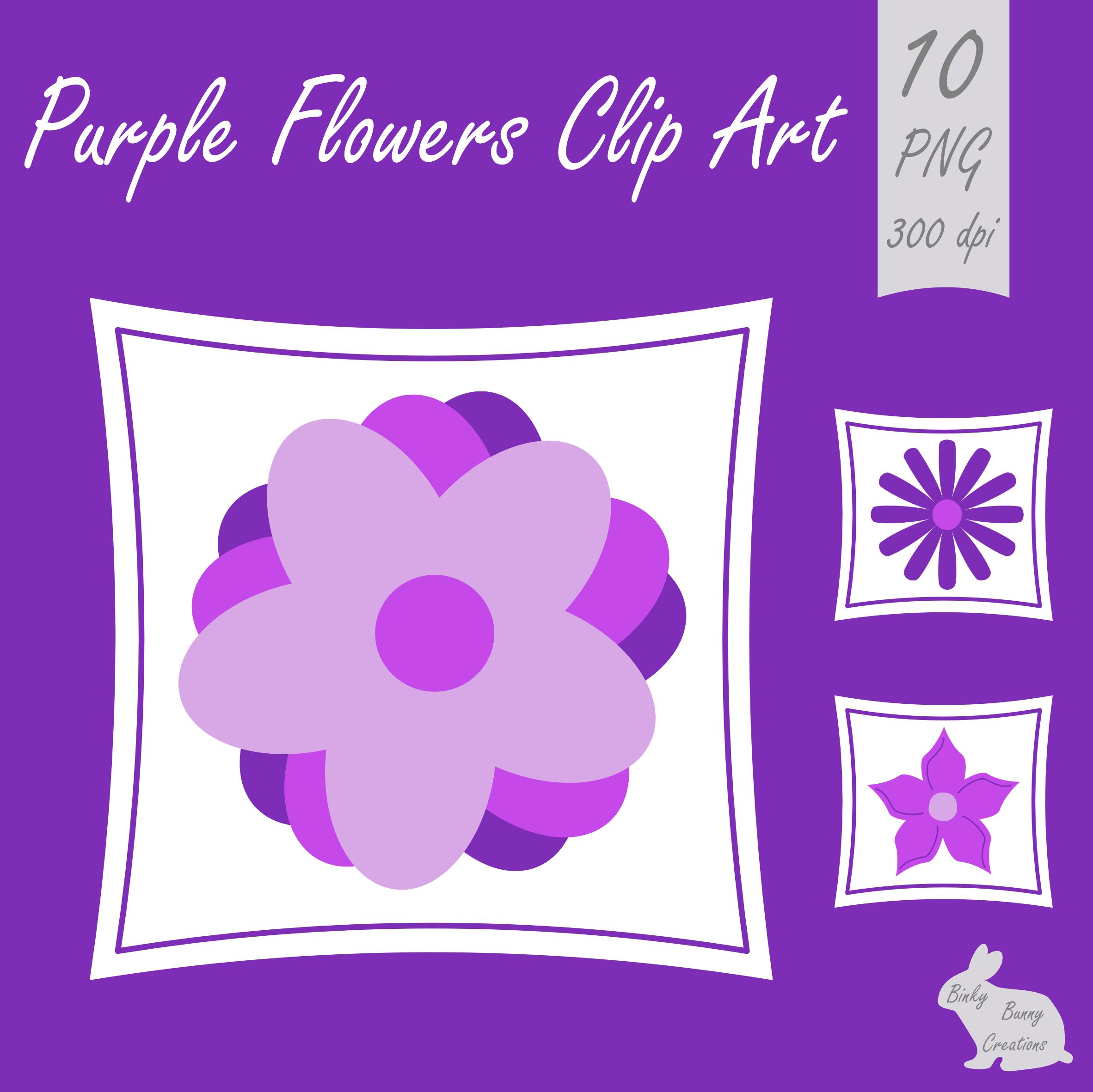 flower clip art purple clipart spring [ 2364 x 2363 Pixel ]
