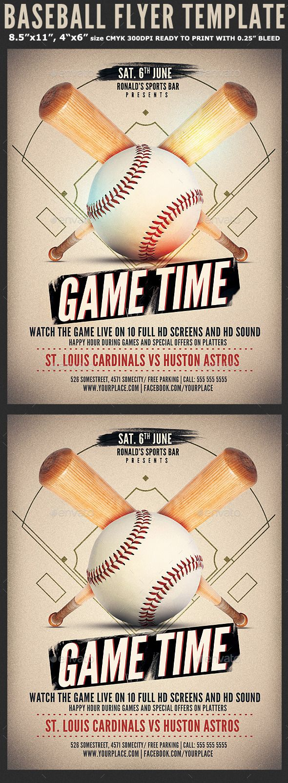 Baseball Game Flyer Template Print Templates Pinterest – Baseball Flyer