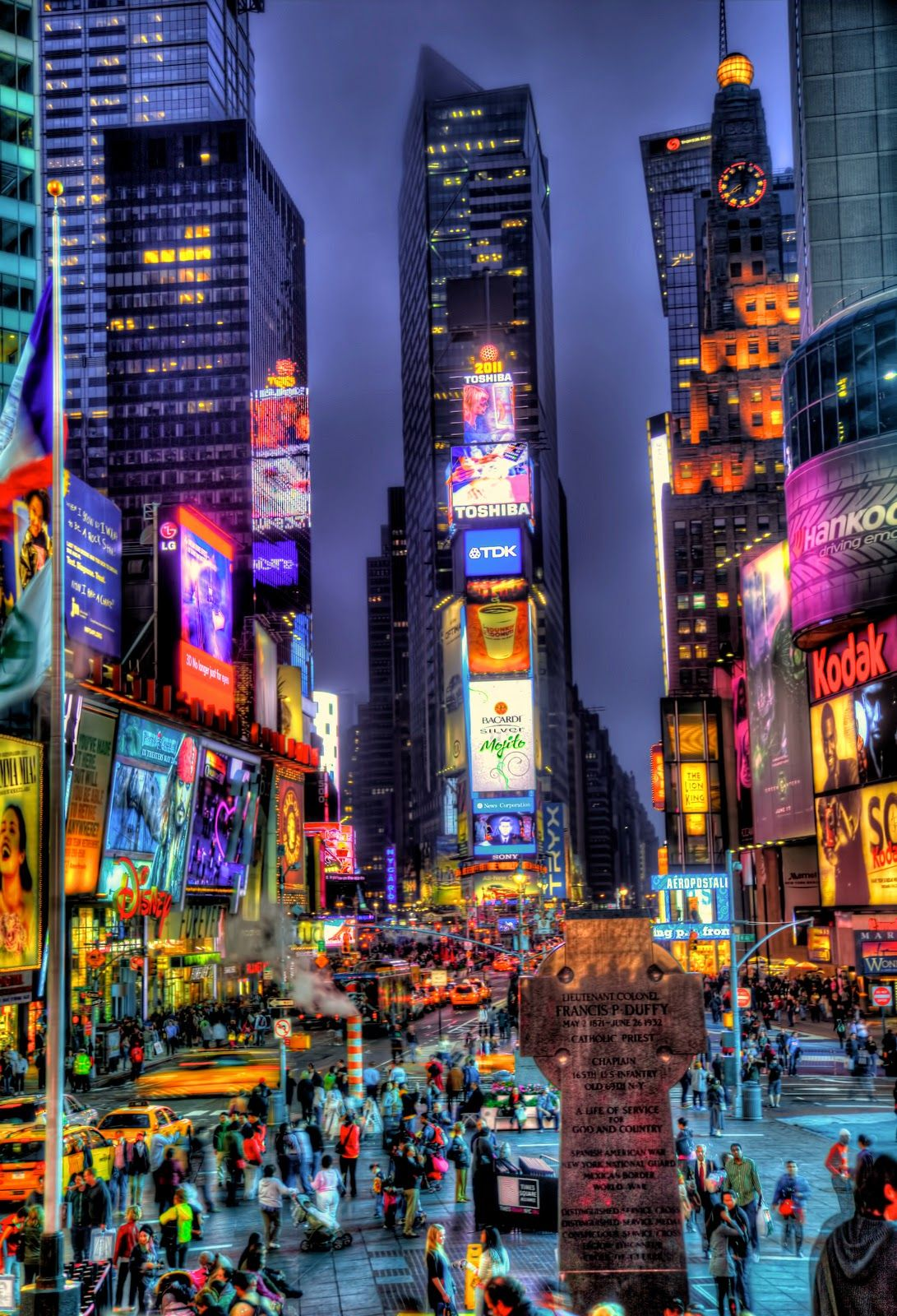 Top 5 Tourist Destinations In The U S Times Square New York Night City New York City