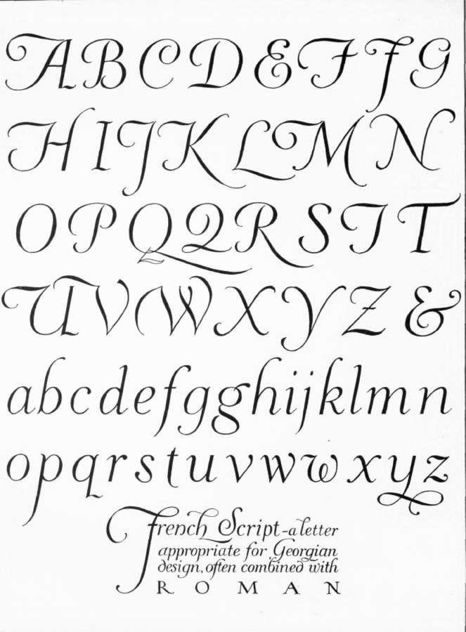 French Script Buchstaben Pinterest French Script