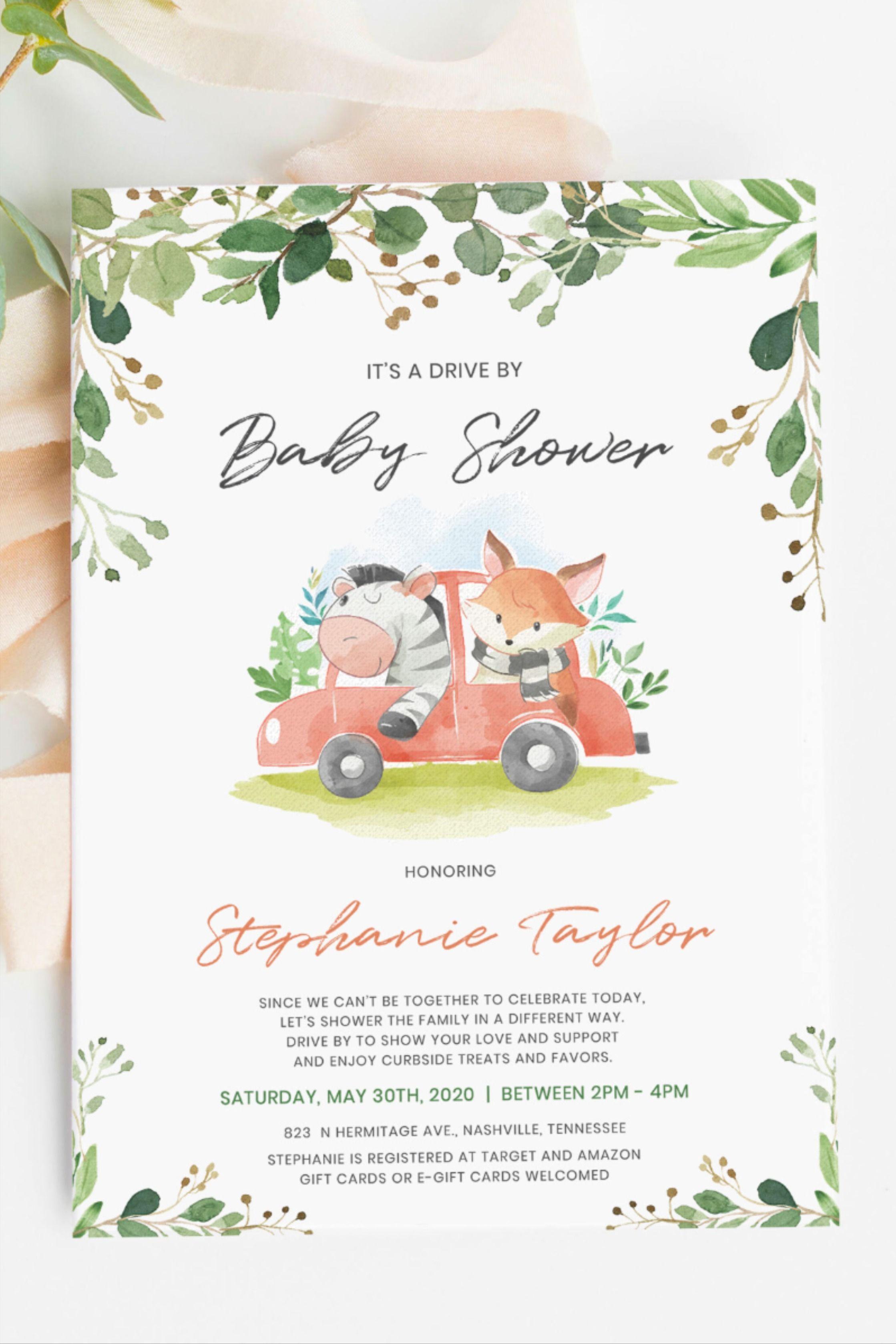 Woodland Birthday Invitation Woodland Animals Birthday- baby prediction card Woodland Baby shower Printable or Printed Free shipping