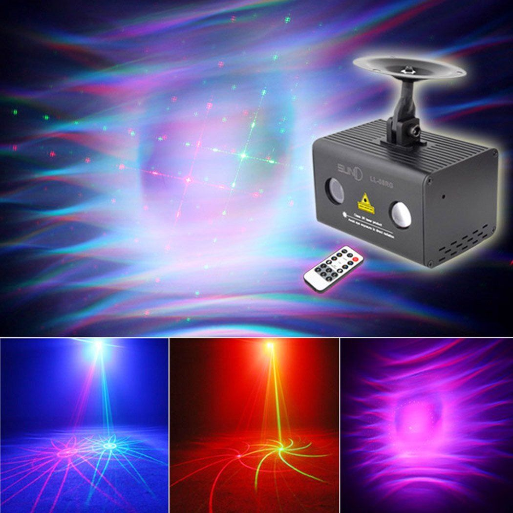 Amazon Com Suny 2 Lens Red Green 8 Gobos Galaxy Projector Color Led Light Dj Laser Lights Led Stage Lights Rgb Led