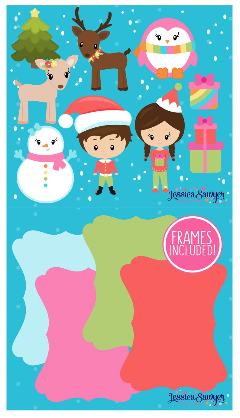 INSTANT DOWNLOAD Rainbow Christmas Clipart | Etsy ...