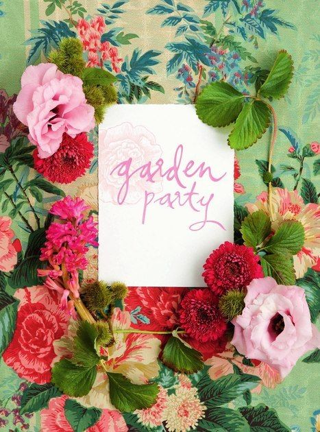 garden party invitation www madblossom com au party pinterest
