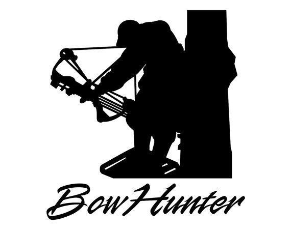 Bow Hunter Vinyl Decal - Deer Bow Hunting Sticker - Bowhunter