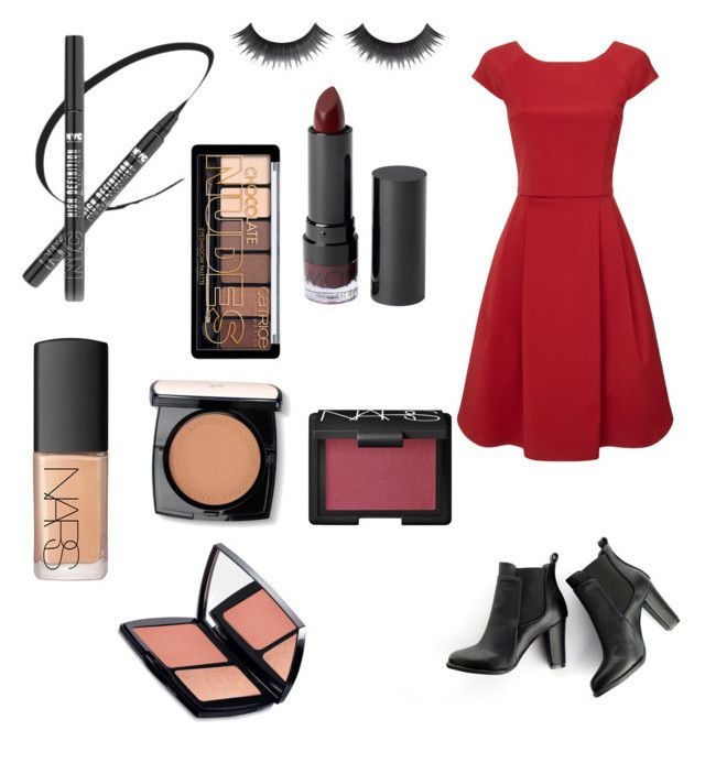 """""""Idke"""" by manreetmannlove ❤ liked on Polyvore featuring Monki, NARS Cosmetics, Lancôme, Phase Eight and SWEET MANGO"""
