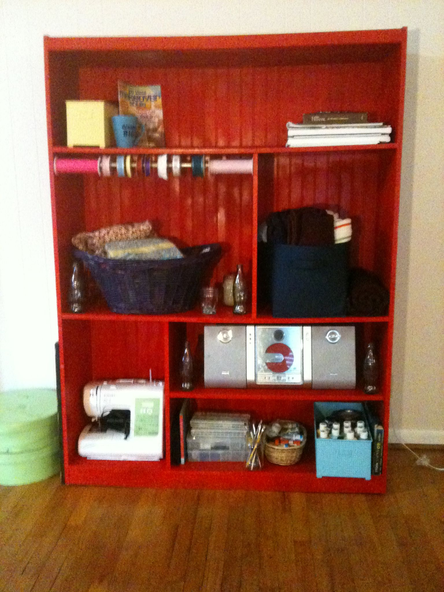 Lovely Old Entertainment Center Turned Into Craft Station | Children