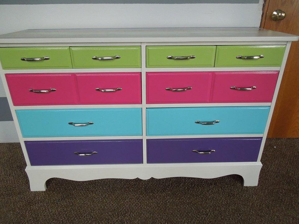 Fun Painted Kids Dresser