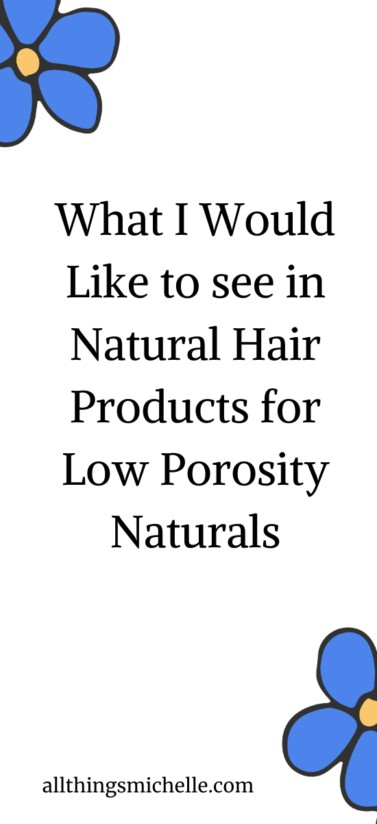 Things I Would Like to see in Natural Hair Products for Low Porosity Naturals