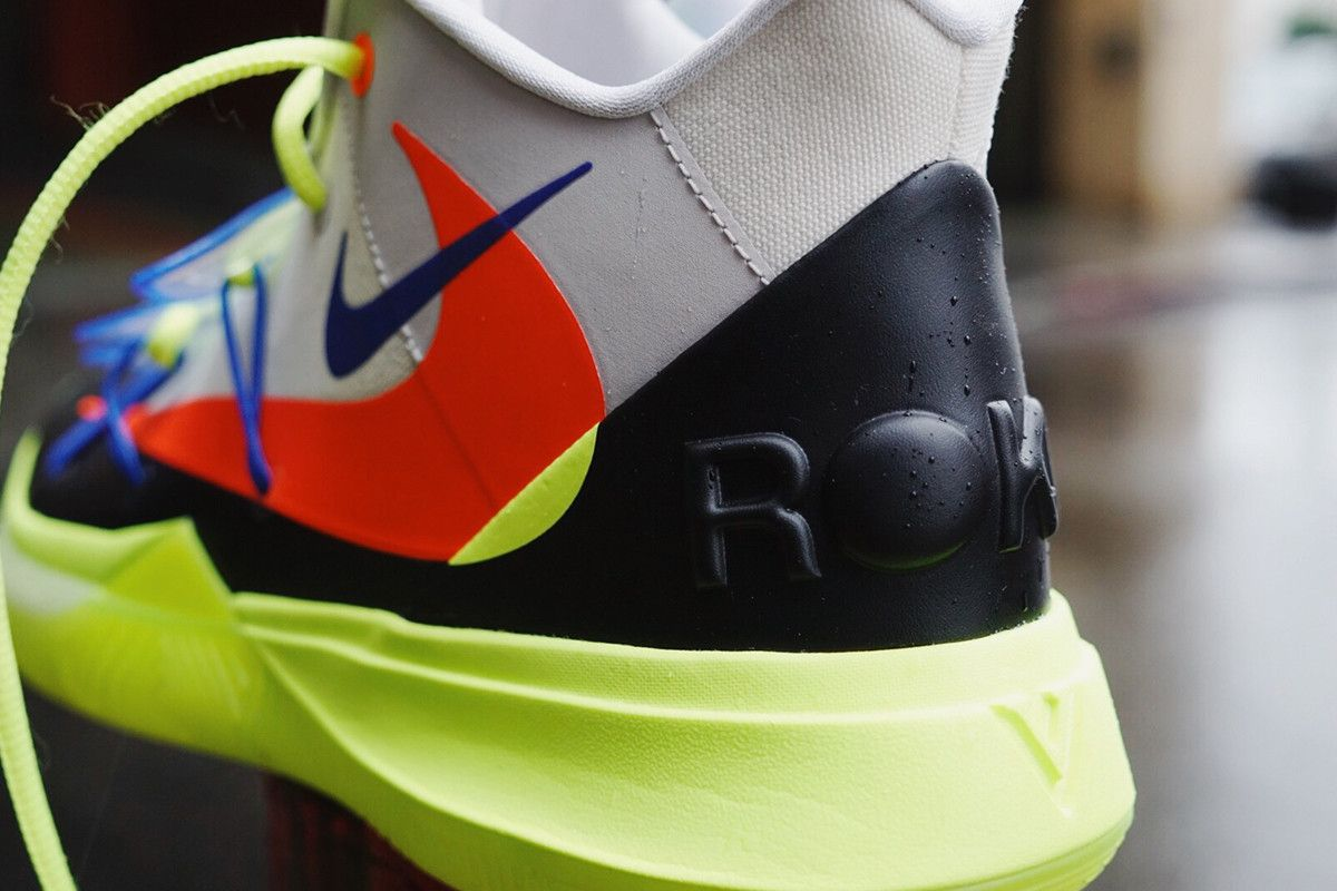 detailed look 5505c 90d05 ROKIT Nike Kyrie 5 NBA All Star Weekend First Look blue grey volt red black  Irving 2019