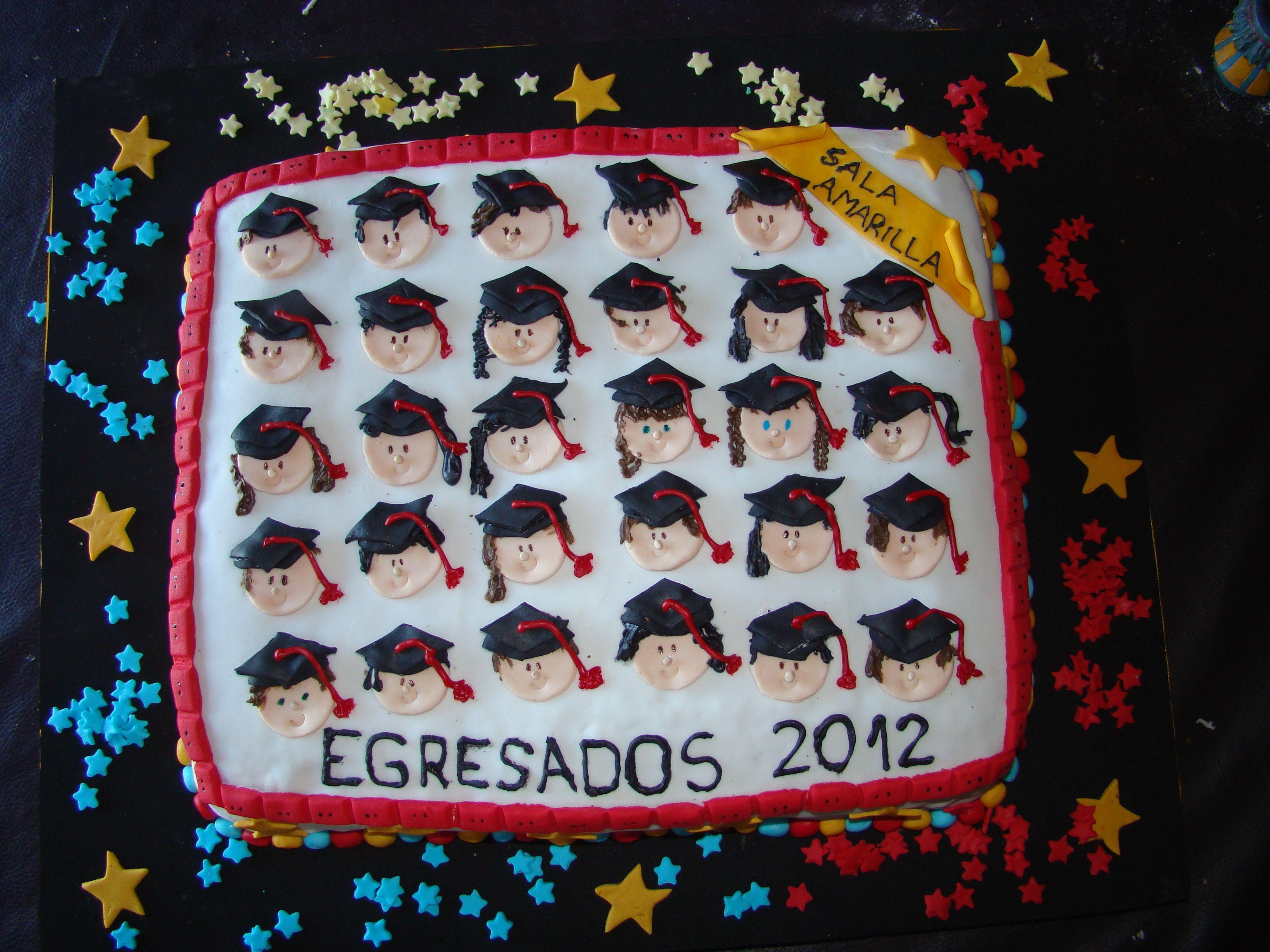 Torta Egresaditos Jardin | >>Decoracion de Tortas | Pinterest ...