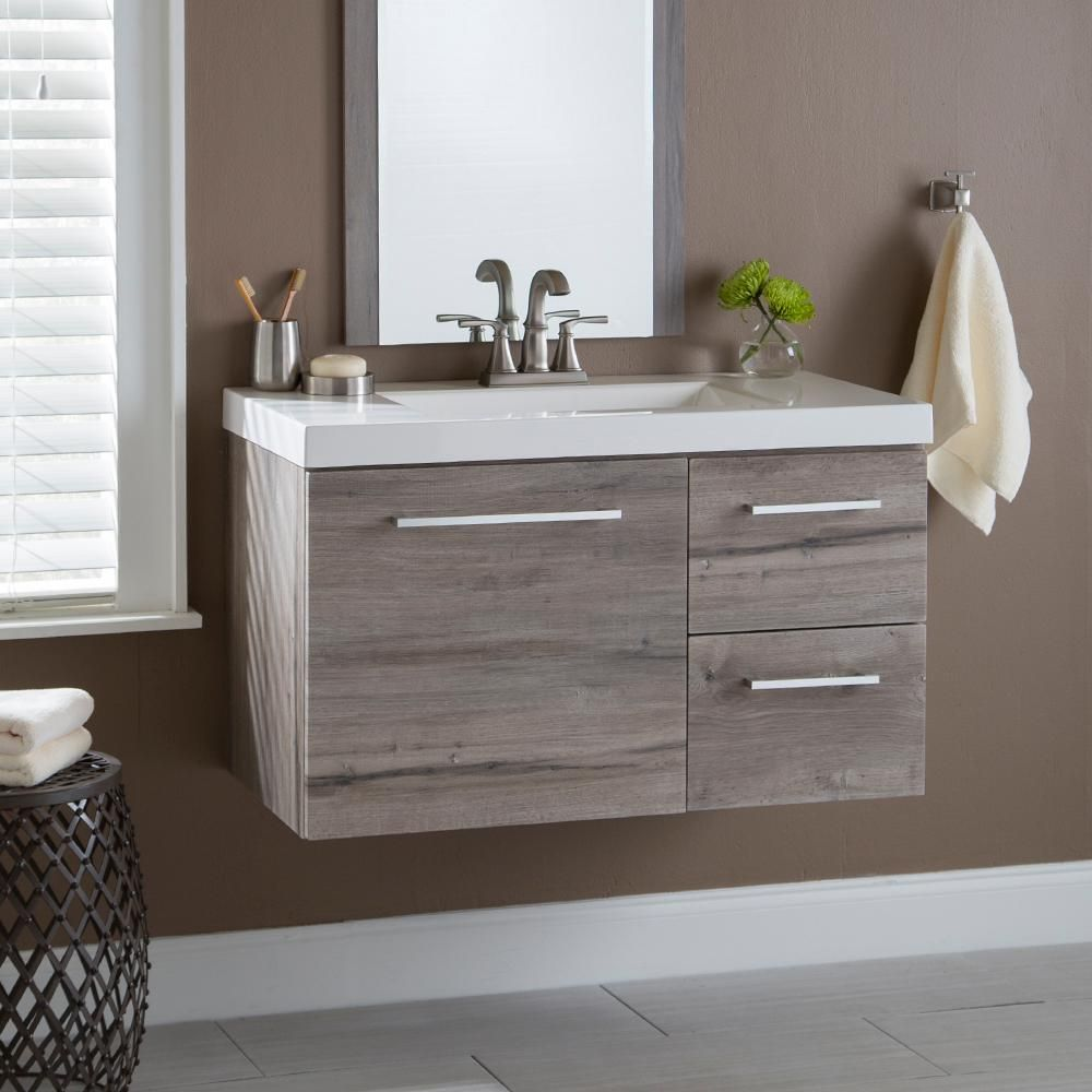 The Home Depot Logo In 2020 White Washed Oak Marble Vanity Tops Wall Hung Bathroom Vanities