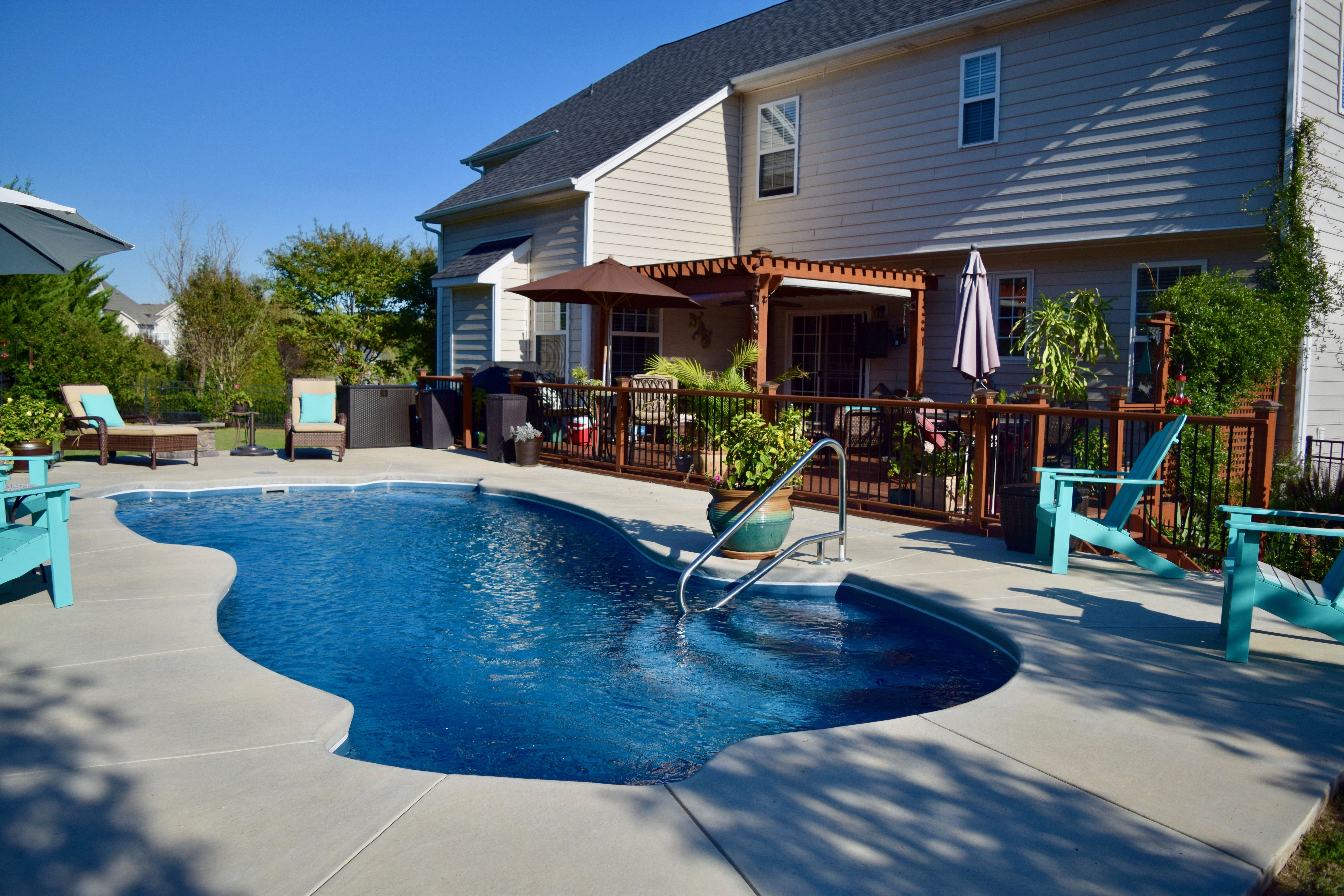 Charlotte Fiberglass Swimming Pools Helped This Client Achieve A Backyard  Oasis In Indian Trail, North