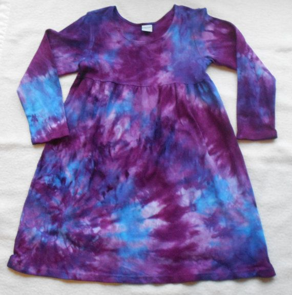 Adorable Blue and Purple Tie Dye Dress  Fun For by wumzydesigns,