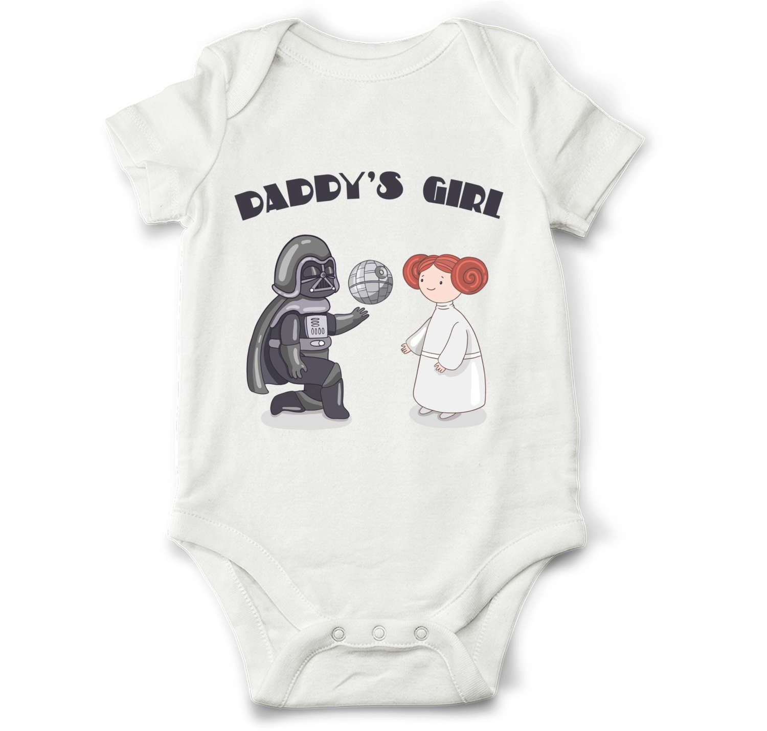 star wars baby girl onesie, daddy's girl star wars shirt, princess