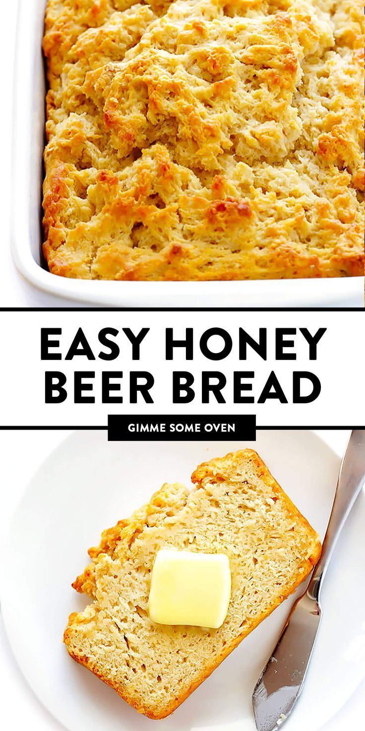 Honey Beer Bread Recipe  Gimme Some Oven The BEST beer bread recipe Super easy make nice and buttery and sweetened with honey