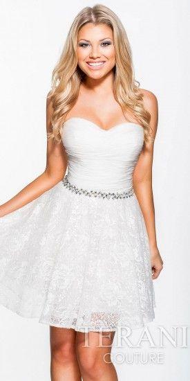 Lace Overlay Homecoming Dress by Terani Couture · Merletto Del  VestitoChiffon Con PizzoGonna Di PizzoAbiti Da Cocktail ... c59c7e191df