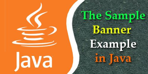 the sample banner example in java