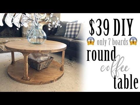 $39 DIY Round Coffee Table