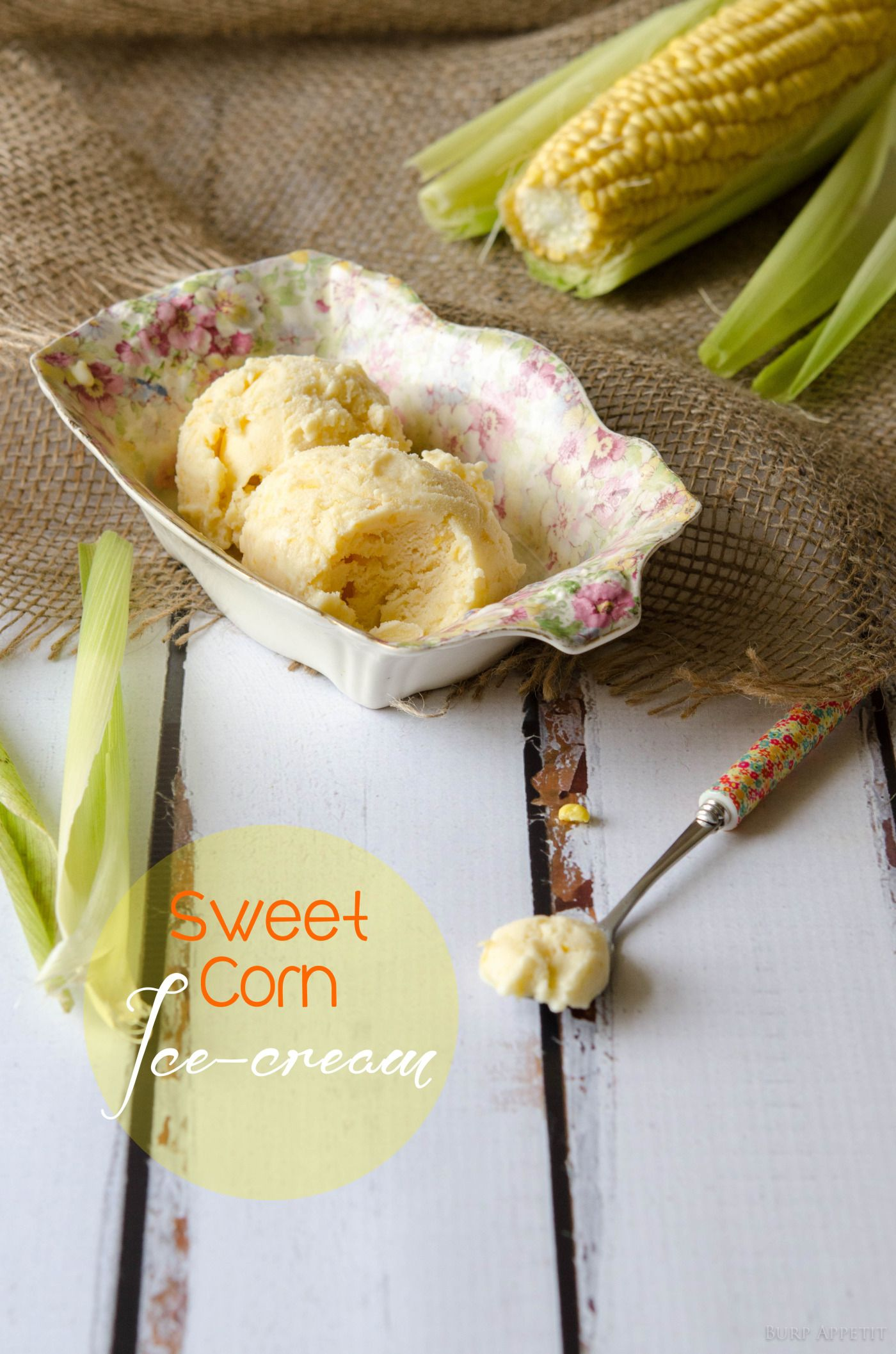 Ooh, love to welcome spring with this creamy Sweet corn ice cream