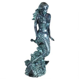 Goddess Of The Sea Mermaid Of The Isles Spitting Bronze Garden Statue Mermaid Statues Goddess Of The Sea Design Toscano