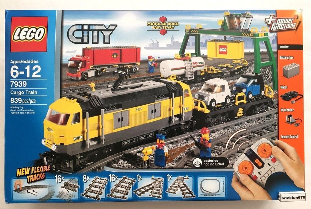 Details About Lego City 7939 Cargo Train Set New In Factory Sealed Box Lego City Train Lego City Cargo Train Lego City