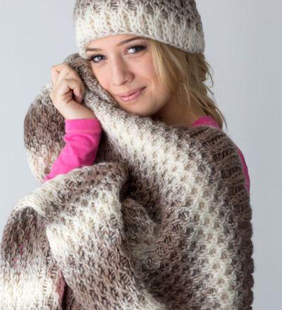 Winter Woodlands Throw 221 Afghans Blankets Knitting Loom