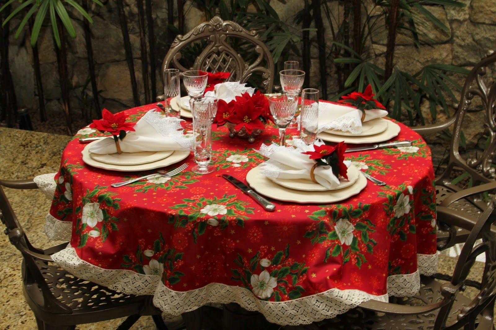 Inspiração: Mesa Redonda para o Natal