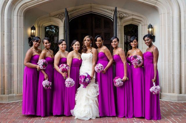 Fushia wedding by Elle Danielle Photography