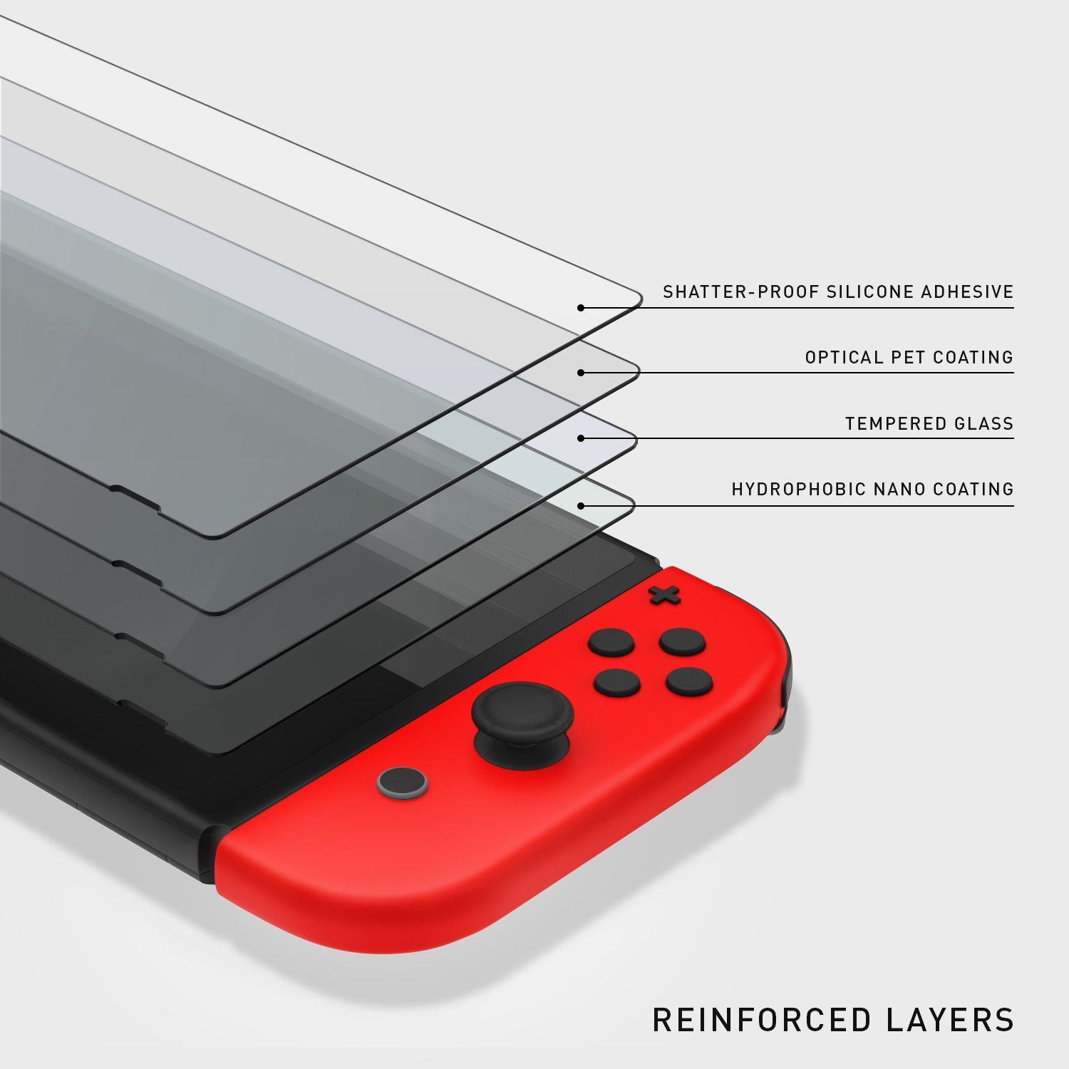 hot sale online 2285f 30595 Nintendo Switch Screen Protector Caseology [Tempered Glass] Ultra ...