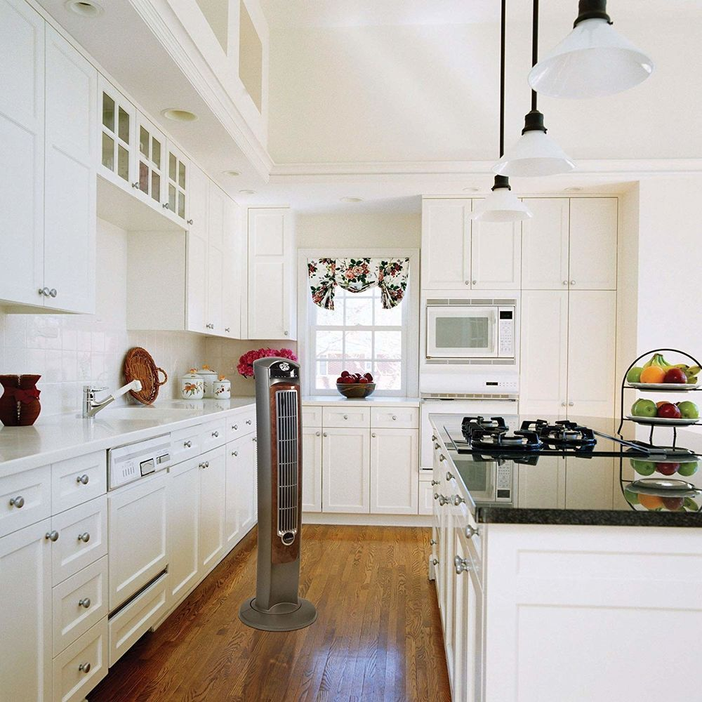 Lasko 2554 Wind Curve Platinum Tower Fan With Remote Control 42 Inch Woodgrain Lasko Tiny Kitchen Design Home Depot Kitchen Interior Design Kitchen