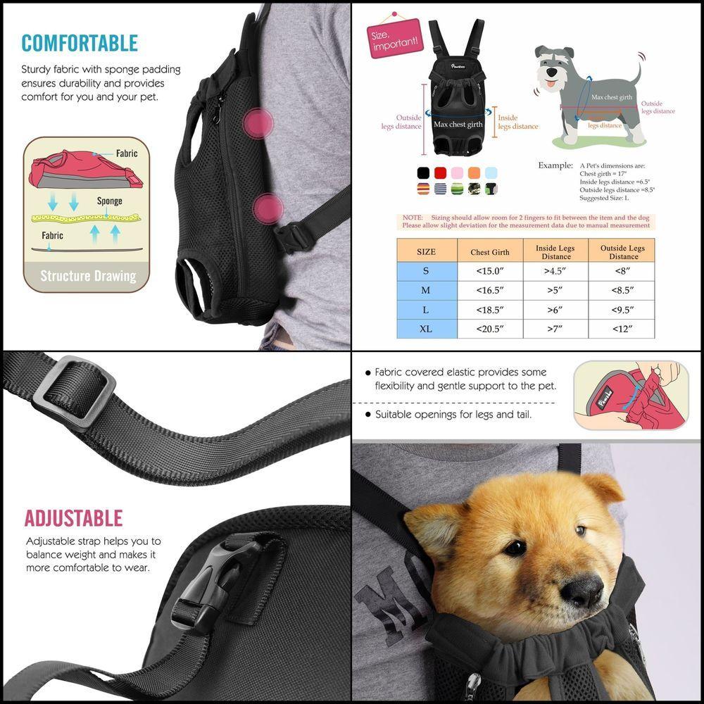 Details About Pawaboo Pet Carrier Backpack Adjustable Front Cat Dog