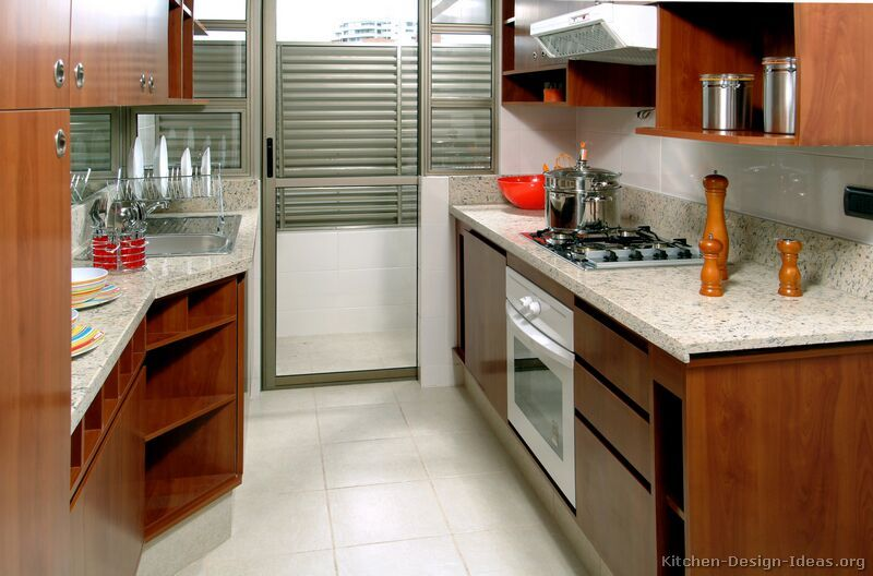 Kitchen of the day not too dark not too light medium for Kitchen cabinets not wood