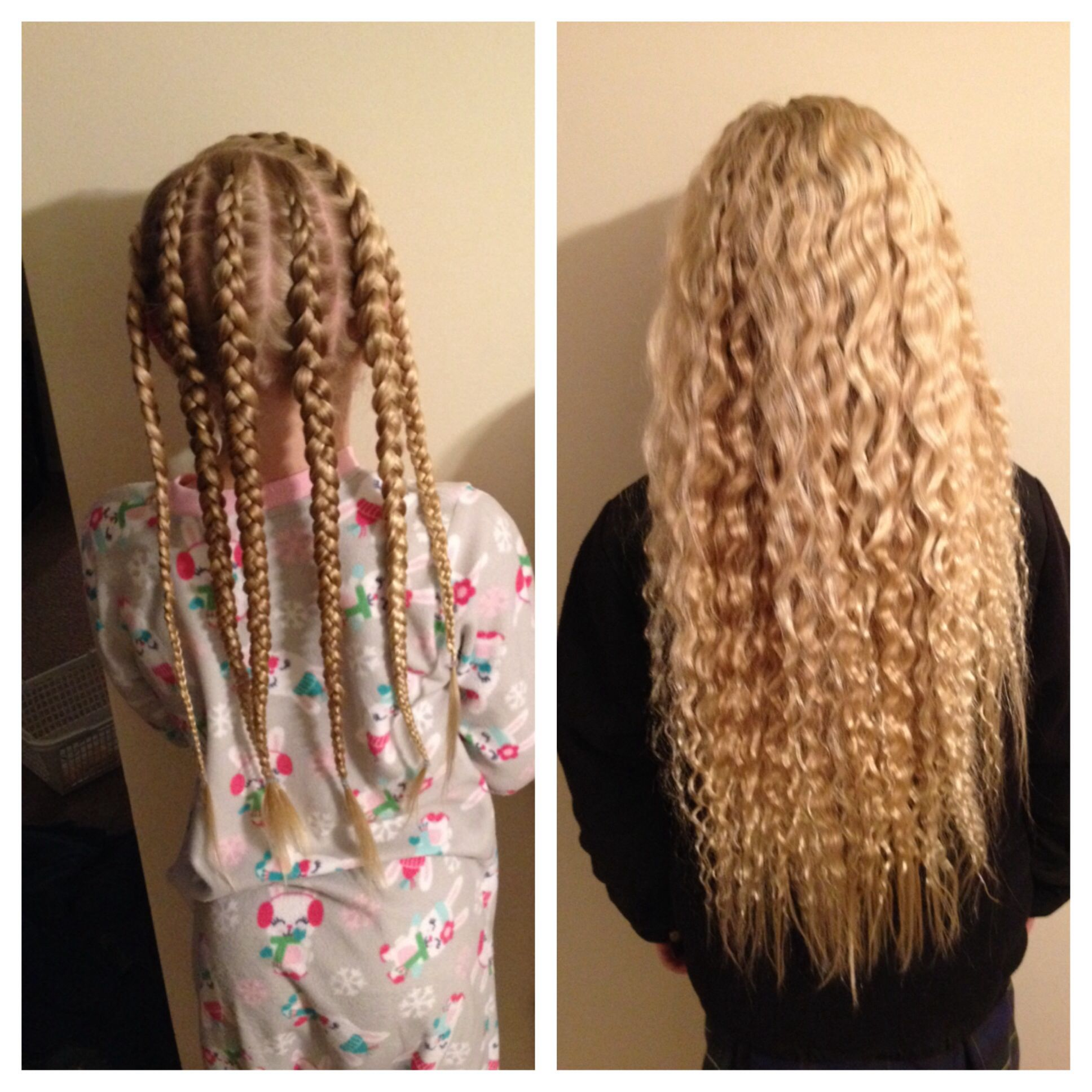 Easy overnight waves no heat and they last all day Hairstyles