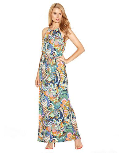790e173de983 Women's Apparel | Dresses | Butterfly Print Chain-Neck Maxi Dress | Lord  and Taylor