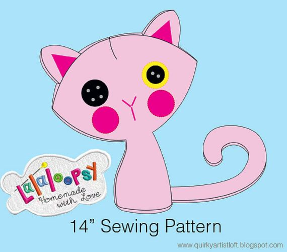 Lalaloopsy  Kitty Plush - Sewing Pattern